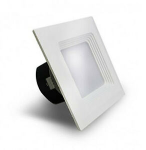 Westgate Led Baffled Square Recessed Light Fixture 6 Inch 5000k