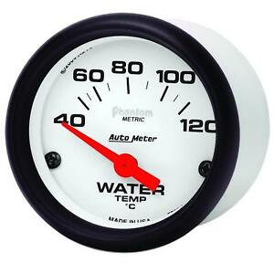 Autometer Phantom Electrical Water Temperature Gauge 2 1 16 Dia White Face