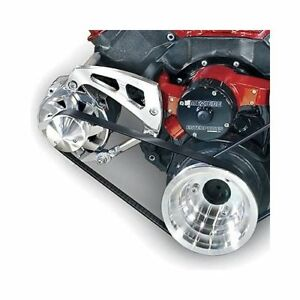 March Performance Pulley Kit Serpentine Aluminum Clear Chevy Big Block Kit