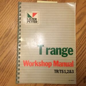 Lister Petter T Range Workshop Service Shop Repair Manual Diesel Engine Tr Tx123