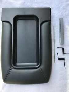 Center Console Cover Lid For 99 07 Silverado Sierra Repair Kit Armrest Dark Grey