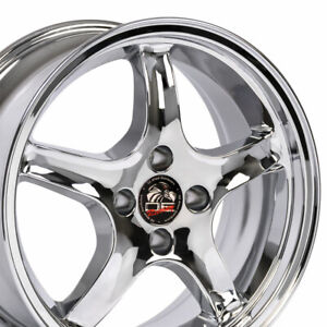 Oew Fits 17x8 Chrome Cobra R Wheels 4 Lug 17 Rims Mustang Gt Lx