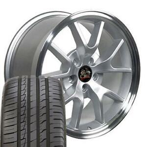 18x9 Wheels And Tires Fits Ford Mustang Fr500 Style Mach D Rim W Ironman Oew