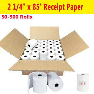 50 500 Rolls 2 1 4 X 85 Thermal Cash Register Credit Card Pos Receipt Paper Us