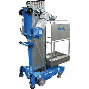 Genie Ac Aerial Work Platform With Gated Standard Entry 25ft Lift 350lb Cap