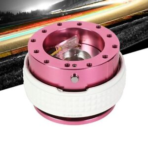 Nrg Pink Body Glow Ring Gen 2 1 Steering Wheel Quick Release Adapter 6 Hole