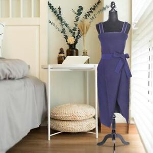 New Black Form Female Mannequin Torso Dress Form Display W Black Tripod Stand