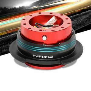 Nrg Blue Stripes Red Body Gen 2 9 6 hole Steering Wheel Quick Release Adapter