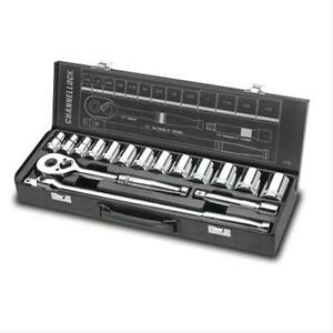 Channellock 32161 Sockets Socket Set Metal Box