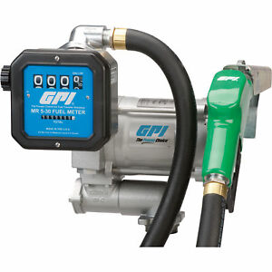 Gpi 115v Fuel Transfer Pump With Meter 20 Gpm