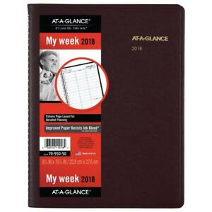 At a glance Weekly Appointment Book Planner January 2018 2019 8 1 4 X