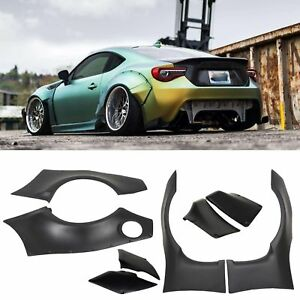 Fits 2013 17 Scion Frs Subaru Brz Gr Bulky Style Fender Flare Cover Abs Plastic