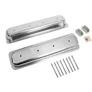 Summit Racing Die Cast Aluminum Valve Covers G3314 Chevy Sbc 283 305 350 400