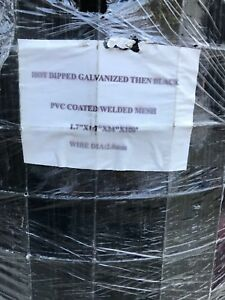 2 X 100 Welded Wire Galvanized Fencing Black Pvc Coated 1 7 x1 7 Mesh