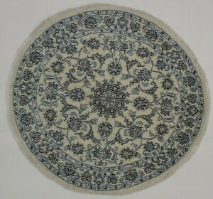 Delightful Handmade Classic Round Nain Kashmar Persian Rug Oriental Carpet 5x5