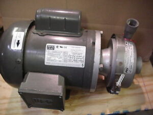 New Fti Finish Thompson Ac5 Stainless Centrifugal Pump 3 4hp 1ph 115 230v Motor