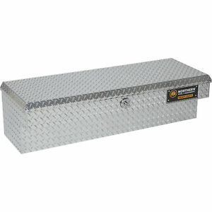 Northern Tool Heavy duty 48in Aluminum Side mount Truck Tool Box brite Finish