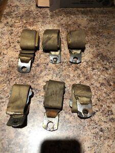 70 Chevy Chevelle Gold Seat Belts Rear Seat Set Used Original Gm