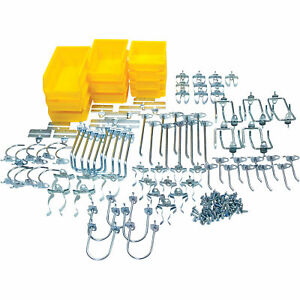 Durahook Pegboard Hook And Plastic Bin Assortment 95 pc