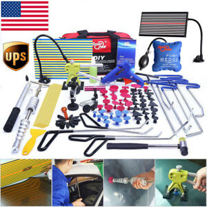 Us Pdr Tools Paintless Repair Dent Puller Lifter Hail Removal Hammer Glue Kits