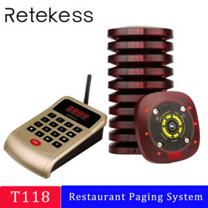 Retekess Restaurant Church Nursery Wireless Paging Queuing System 10 Pagers Us