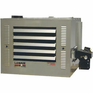 Lanair Waste Oil fired Thermostat controlled Heater Pkg Thru wall Chimney