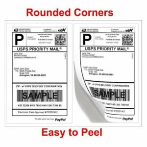 200 10000 8 5 x5 5 Round Corner Shipping Labels Half Sheet Self Adhesive Labels