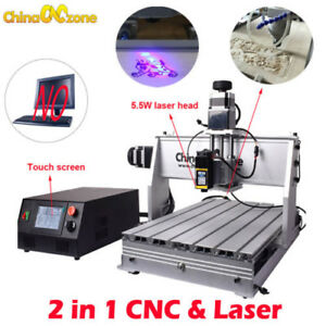 Laser Cnc Router Small 3040 3axis Cnc Machine Engraving Machine 5 5w Laserhead