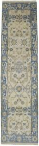 Beautiful Floral Design Runner Oushak Chobi Indian Rug Oriental Home Carpet 3x10