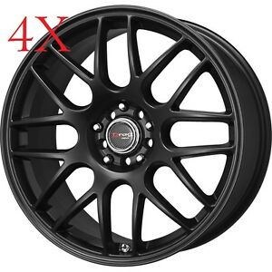 Drag Wheels Dr 34 17x7 5 4x114 Flat Black Rims For Accord Prelude Altima 200sx