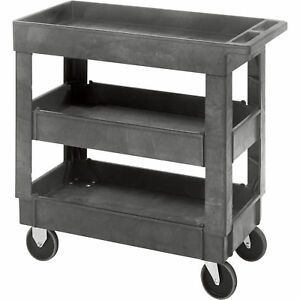 Quantum Industrial Plastic Cart 35inh 3 shelf Pc3518 33 3