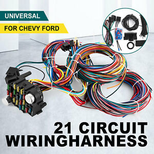 21 Circuit Wiring Harness For Chevy Universal Wires Fit X Long