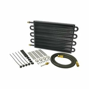 Derale Heavy Duty Tube Fin Transmission Cooler 10 25 X 17 5 6 An In Out