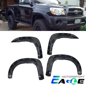 For 2005 2011 Toyota Tacoma 6 Pocket Style Bolt On Rivet Fender Flares