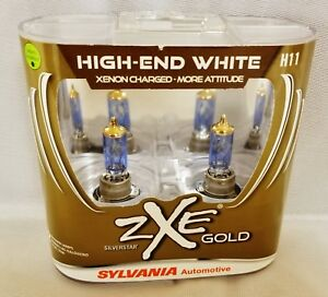 New Sylvania Silverstar Zxe Gold H11 Pair Set Headlight Bulbs Xenon Free Ship