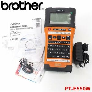 New Brother Industrial Wireless Handheld Labeling Tool Pt e550w open Box