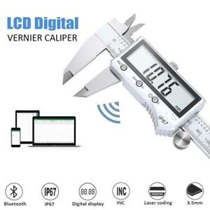 6 150mm Lcd Digital Electronic Vernier Caliper Stainless Steel Micrometer Gauge