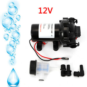 Dc 12v Water Pressure Diaphragm Pump 18 9 L min For 60 Psi Caravan rv boat marin