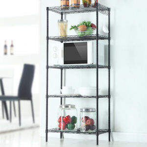 Heavy Duty 5 Layer Wire Shelves Rack Adjustable Steel Metal Shelf Storage Holder