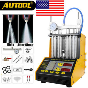 Autool Ct150 4 cylinder Ultrasonic Fuel Injector Cleaner Tester For Car Motor Us