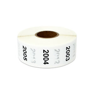 1 Round Consecutive Numbers 2001 To 3000 Stickers Inventory Control Labels 10pk
