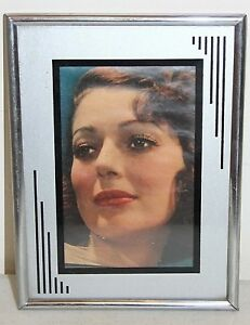 Art Deco Picture Frame Vintage Silver Black Frame To Hold 4 X 6 Photo