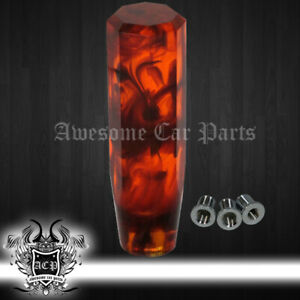 150mm 6 Long Extended Shift Knob Crystal Fusion Style Vip Jdm Drift Amber