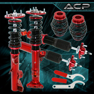 92 98 E36 318 323 325 328 Adjustable Racing Coilover Dampers Spring Lowering Red