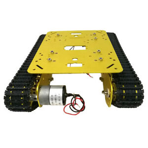 Car Tank Chassis Kit Alloy With 2 Dc Motors For Diy Remote Control Robot