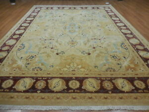 Super Turkish Vgdy Qoom Ghuom Oushak Chobi Serapi Tabrizz Contemporary 9x12 Rug