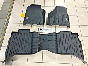 09 18 Dodge Ram Crew Cab Black Wall Weather Floor Mats Front Rear Mopar New