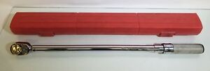 Snap on Qd3r250 1 2 Drive Ratcheting Click Type Adjustable Torque Wrench