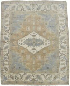 Stunning Hand Knotted Muted Chobi Oushak Indian Area Rug Oriental Carpet 8x10