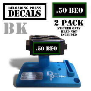 50 BEO Reloading Press Decals Ammo Labels BEOWULF 2 Pack BLKGRN 1.95